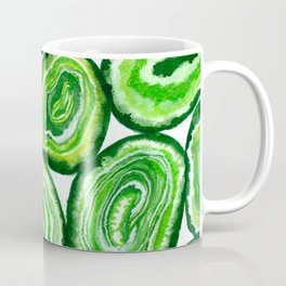 Green agate pattern watercolor Coffee Mug