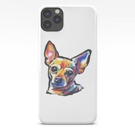 Fun Chihuahua Dog bright colorful Pop Art iPhone Case