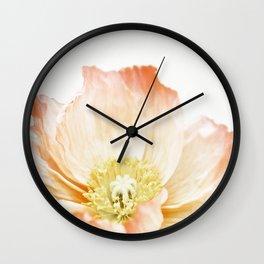 Pink Poppy No. 2 | Floral Art Wall Clock