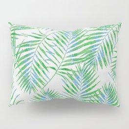 Fern Leaves Grey Pillow Sham