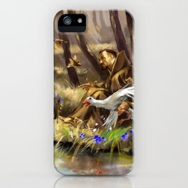 St.Francis and the Wild Goose iPhone Case