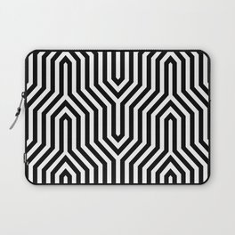 Retro Chevron B&W Laptop Sleeve