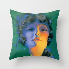 """Girl of My Dreams"" Pinup by Rolf Armstrong Throw Pillow"