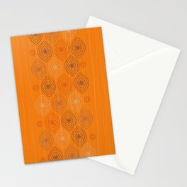Moroccan silk in orange Stationery Cards