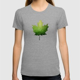 Maple Leaf in Green - Oh Canada T-shirt