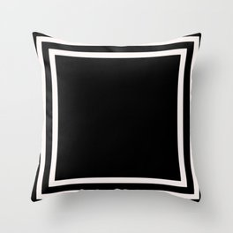 Black and white minimal Throw Pillow