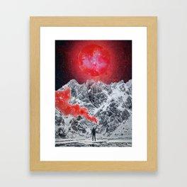 Red Glitter Smoke by GEN Z Framed Art Print