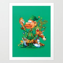 Elf Walter - Ornaments & Decorations Department Art Print