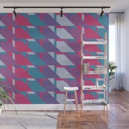 Abstract Drama #society6 #violet #pattern Wall Mural