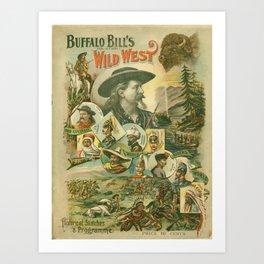 Buffalo Bill Wild West Affiche Art Print