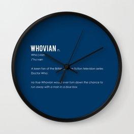 Whovian Wall Clock