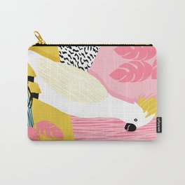 FeelFree - memphis throwback retro bird tropical nature animal parrot cockatoo 1980s 80s pop art Carry-All Pouch