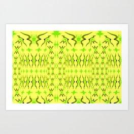 Sand dune pattern yellow Art Print