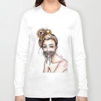 walrus Long Sleeve T-shirts featuring Walrus by Nora Bisi