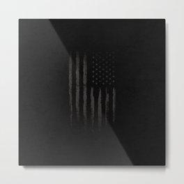 Black American flag Metal Print