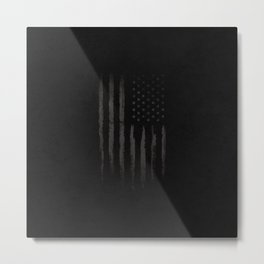 Black American flag Metal Print