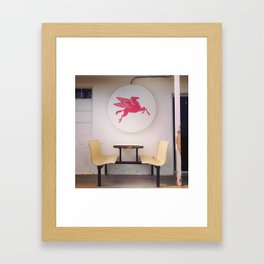 Mobil Gas Dining Booth Framed Art Print