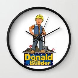 Donald The Builder Wall Clock