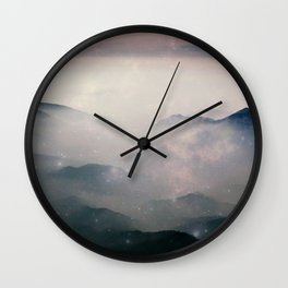 Mountain Nebulas Wall Clock