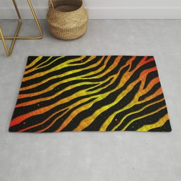 Ripped SpaceTime Stripes - Red/Yellow Rug