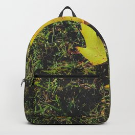 closeup green grass field with green leaf Backpack