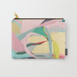 Shapes and Layers no.23 - Abstract Draper pink, green, blue, yellow Carry-All Pouch
