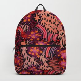 Fire Flowers Backpack
