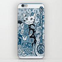 hippy iPhone & iPod Skins featuring Hippy Puss by SwanniePhotoArt