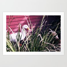 Quack Quack Country Barn Print Art Print