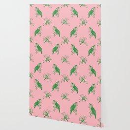 Toucan Green Pink Wallpaper
