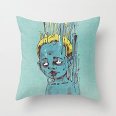 The Blue Boy with Golden Hair Throw Pillow