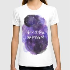 Celestial Nevertheless, she persisted X-LARGE Womens Fitted Tee White