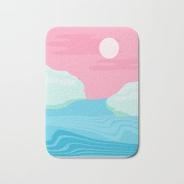 I Kid You Not - throwback travel poster 80s style minimal retro art decor memphis style Bath Mat