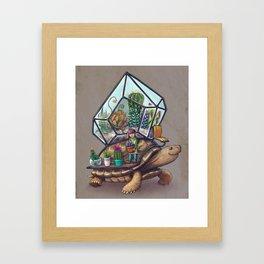 Tortoise Terrarium Framed Art Print