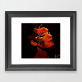 Face Tattoo Framed Art Print
