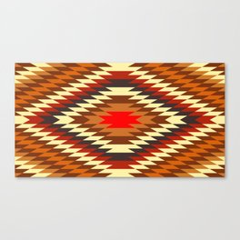 american native traditional ethnic costume motif seamless pattern Canvas Print