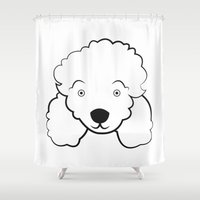 poodle Shower Curtains featuring Poodle by anabelledubois
