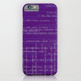 Code Purple iPhone Case