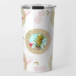 Aztec Fruit Pattern Travel Mug