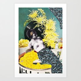 Cream of The Crop Surreal Art Art Print
