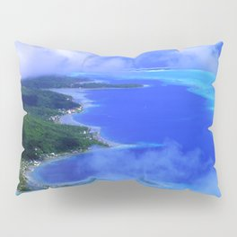 Heavenly Bora Bora Tropical Island Stunning Aerial View Pillow Sham