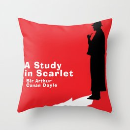 A Study in Scarlet - Sherlock Holmes Throw Pillow