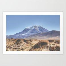Desert Volcano Art Print