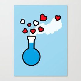 Blue and Red Laboratory Flask Canvas Print