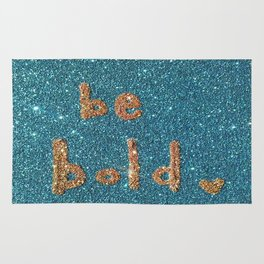 Be Bold Glitter Card Rug