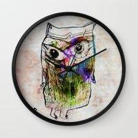 alone Wall Clocks featuring Alone by Organic Mind