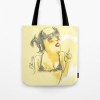 charmaine olivia Tote Bags featuring Olivia by Gustavo Gialuca