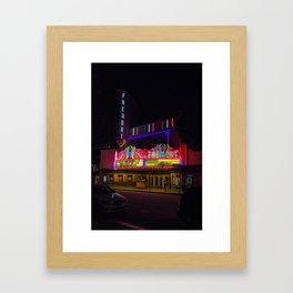 Night Lights Fremont Theater, San Luis Obispo, California Framed Art Print