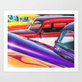 Candy Color Hot Rods, Tasty Automotive Art by Murray Bolesta Art Print
