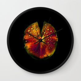 rainbow lily pad III Wall Clock